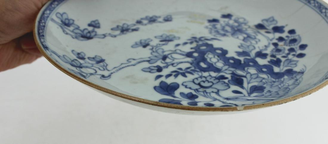18 CENTURY CHINESE BLUE/WHITE DISH - 8