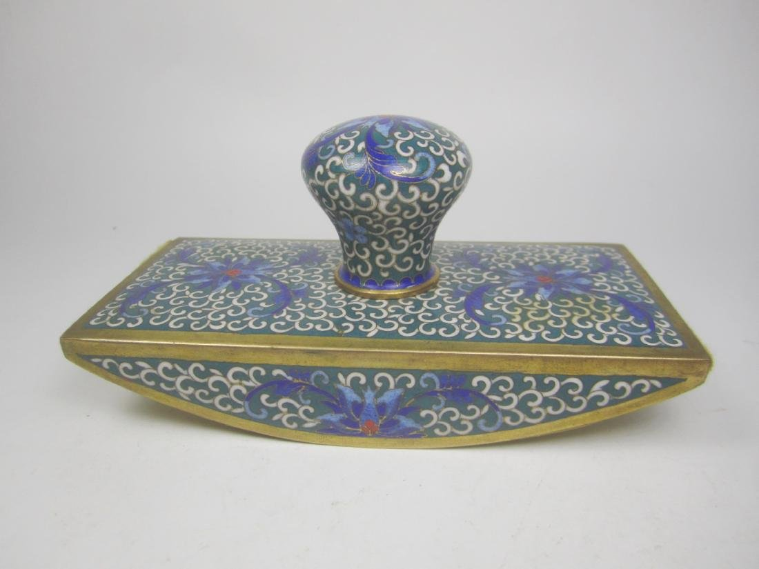 CHINESE CLOISONNE INK BLOTTER