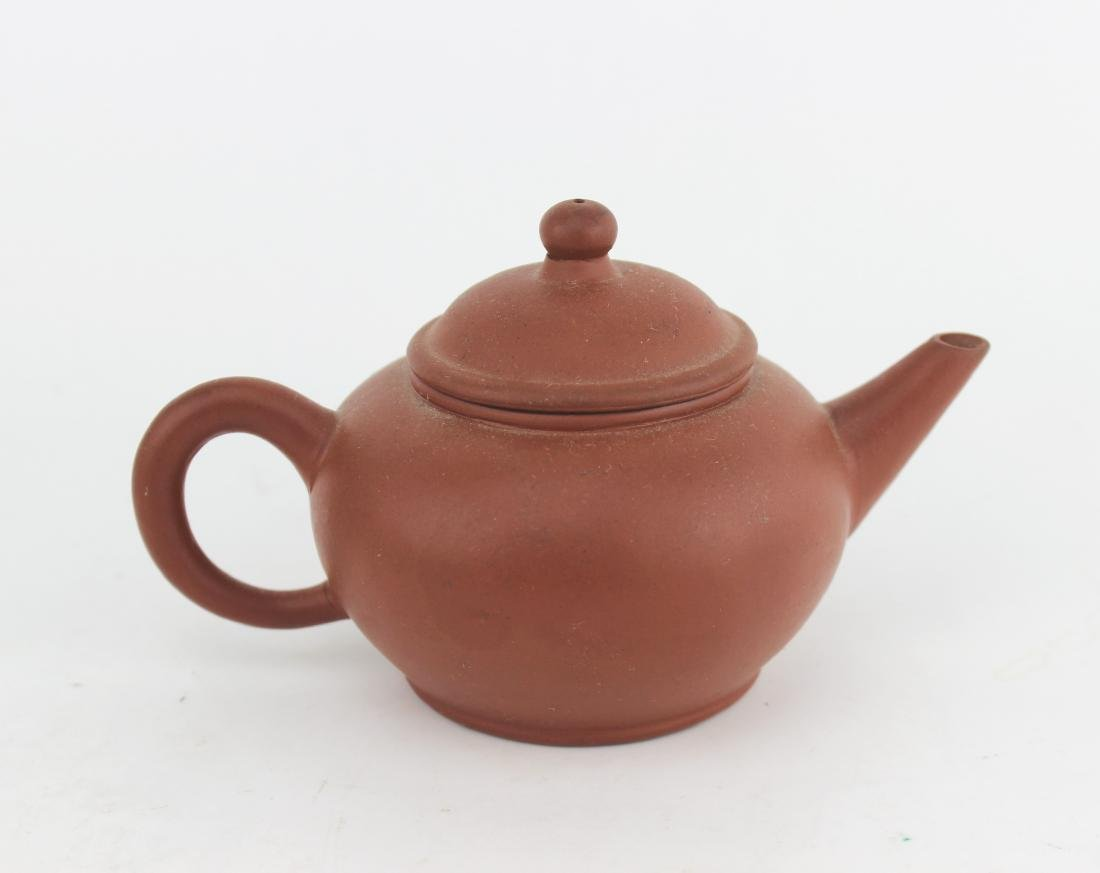 CHINESE YIXING ZISHA TEAPOT SIGNED - 2