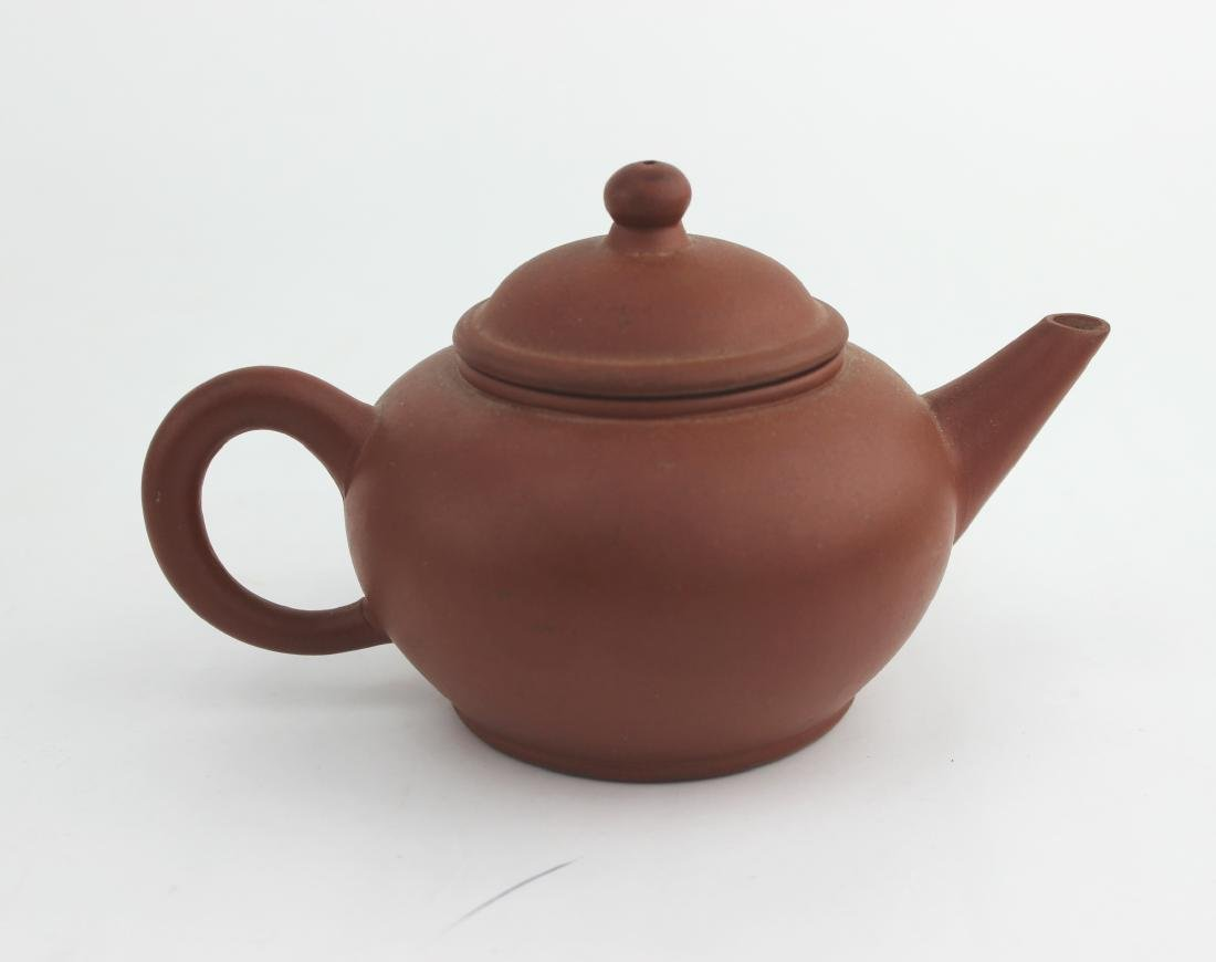 CHINESE YIXING ZISHA TEAPOT SIGNED - 8