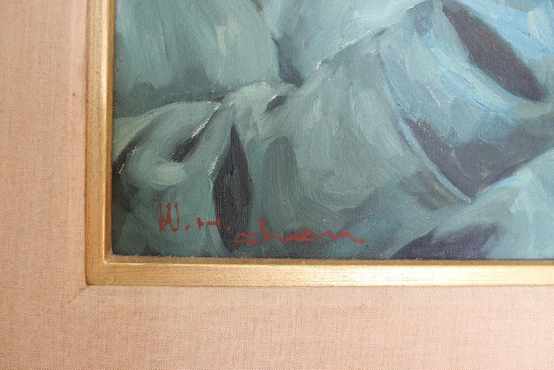 OLD GENTLEMAN, O/C,SIGNED W. H. CHEN - 2