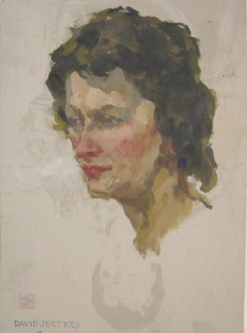 PORTRAIT STUDY OF A WOMAN, DAVID WU JECT-KEY