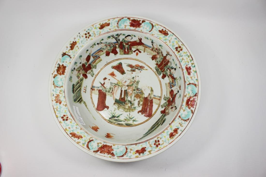 19TH C CHINESE FAMILLE ROSE BASIN - 3