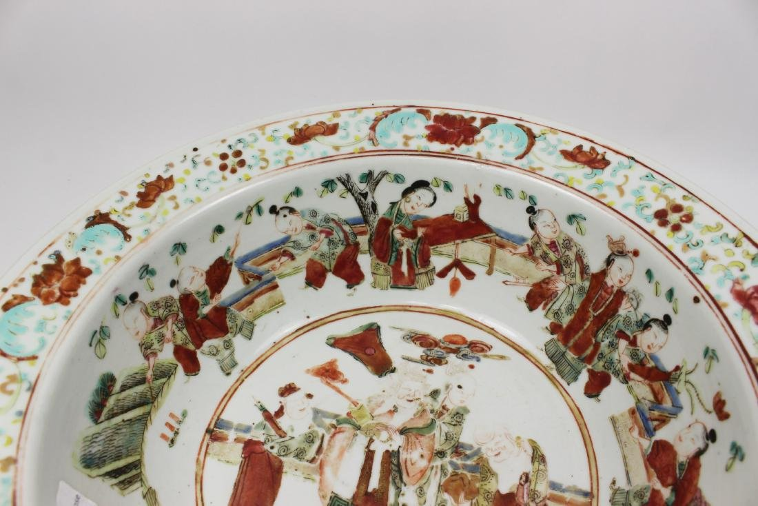19TH C CHINESE FAMILLE ROSE BASIN - 4