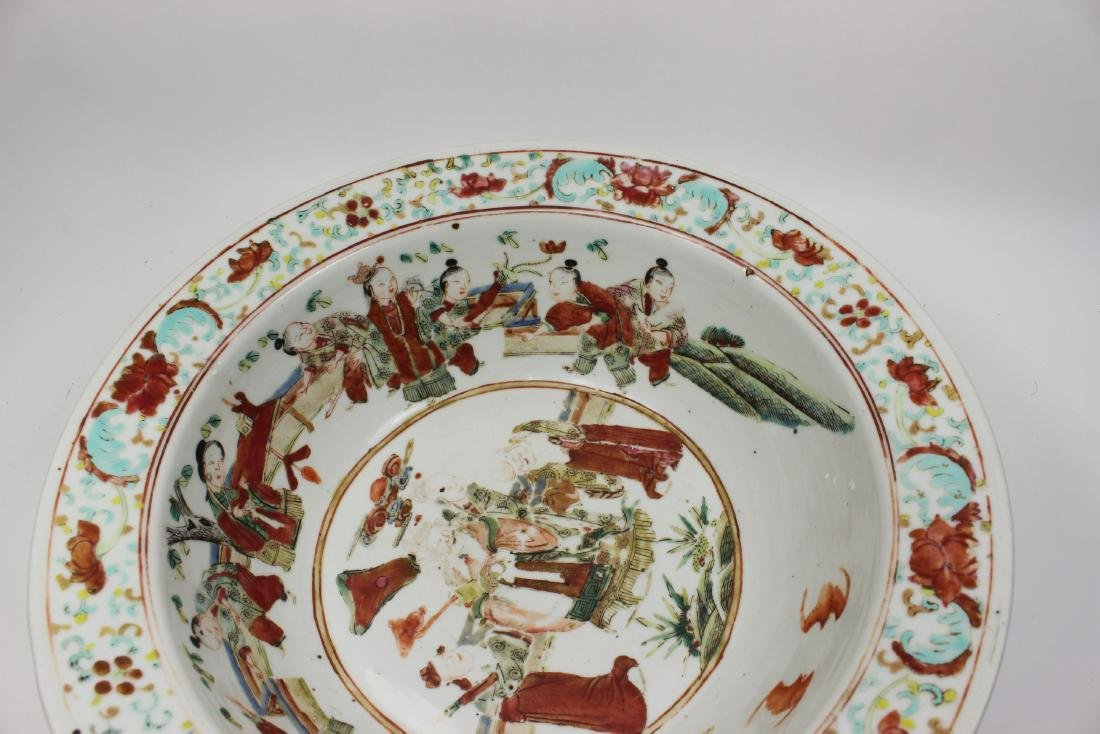 19TH C CHINESE FAMILLE ROSE BASIN - 6