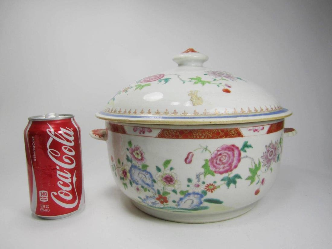 CHINESE FAMILLE ROSE SOUP TUREEN - 10