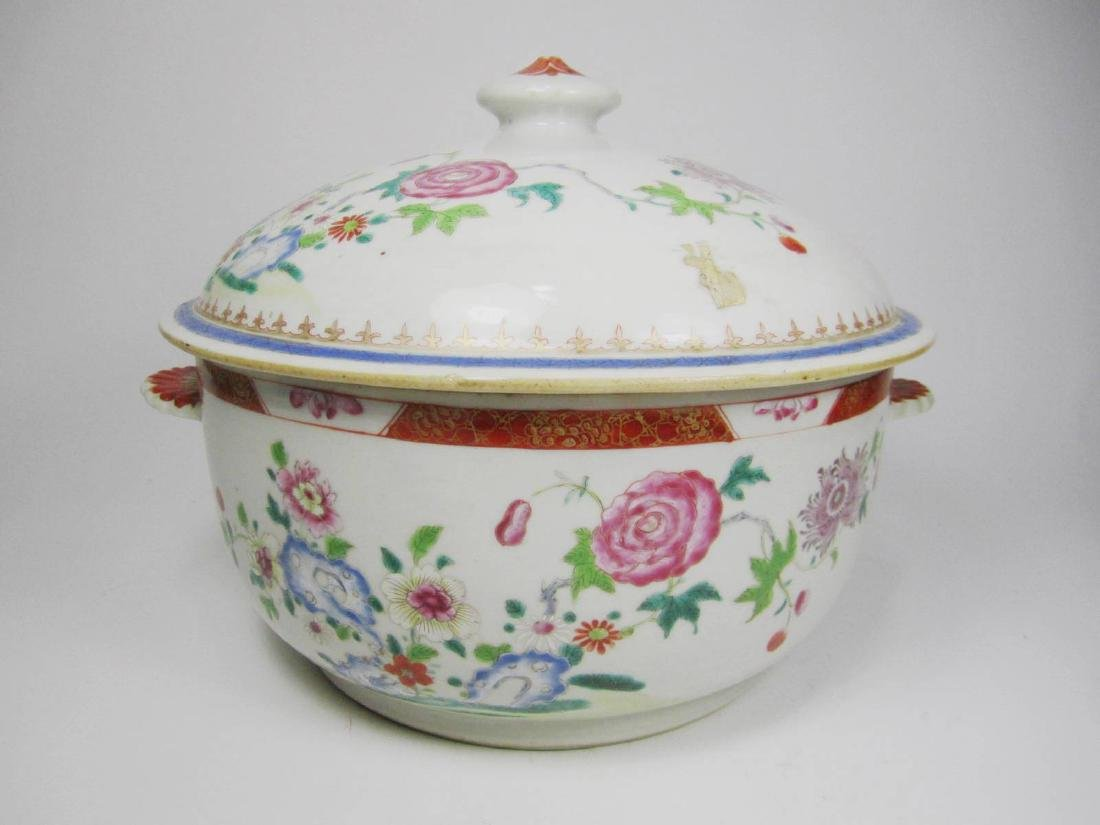 CHINESE FAMILLE ROSE SOUP TUREEN