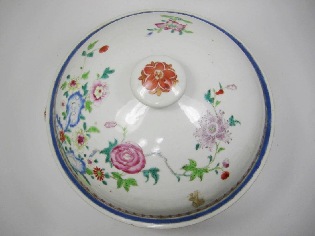 CHINESE FAMILLE ROSE SOUP TUREEN - 2
