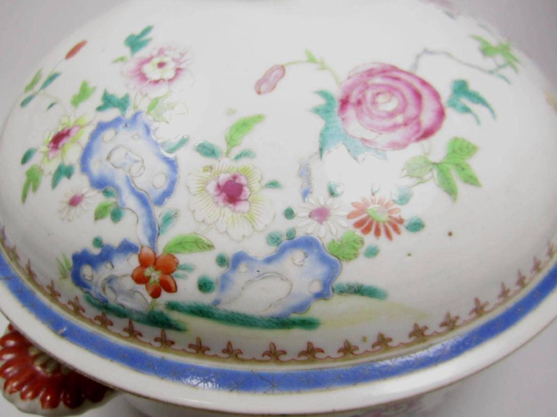 CHINESE FAMILLE ROSE SOUP TUREEN - 3