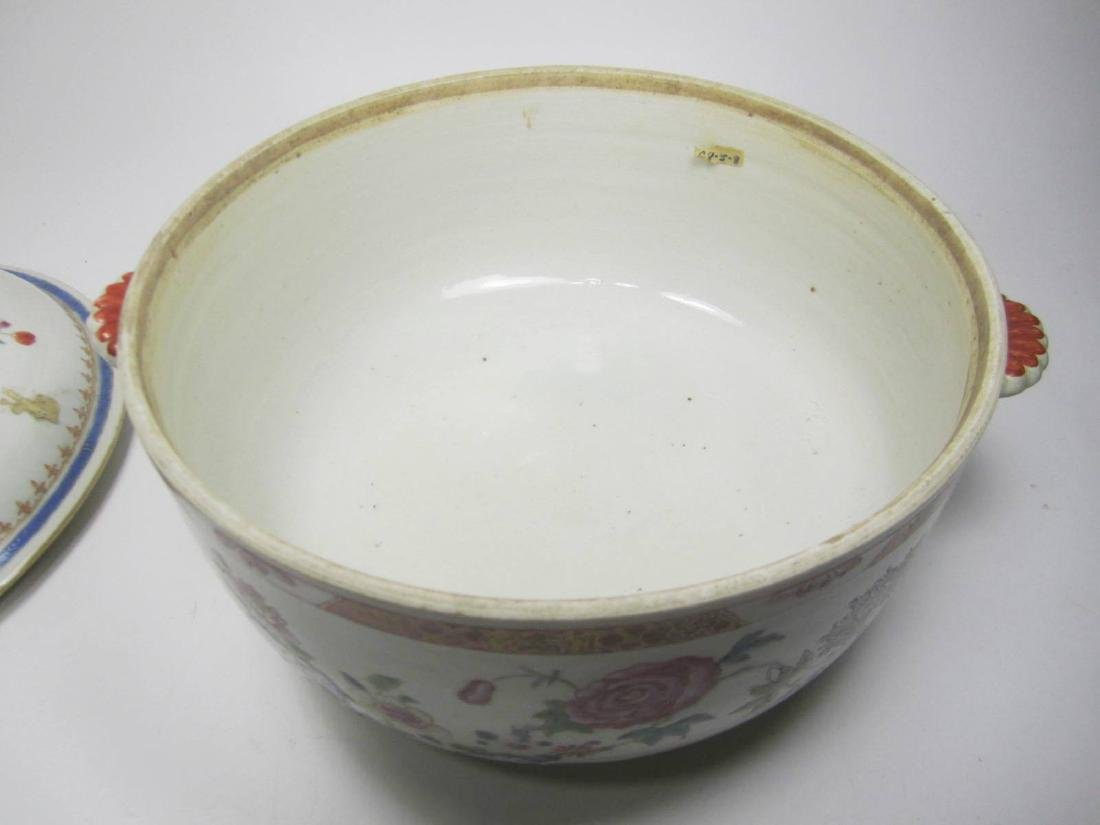CHINESE FAMILLE ROSE SOUP TUREEN - 4