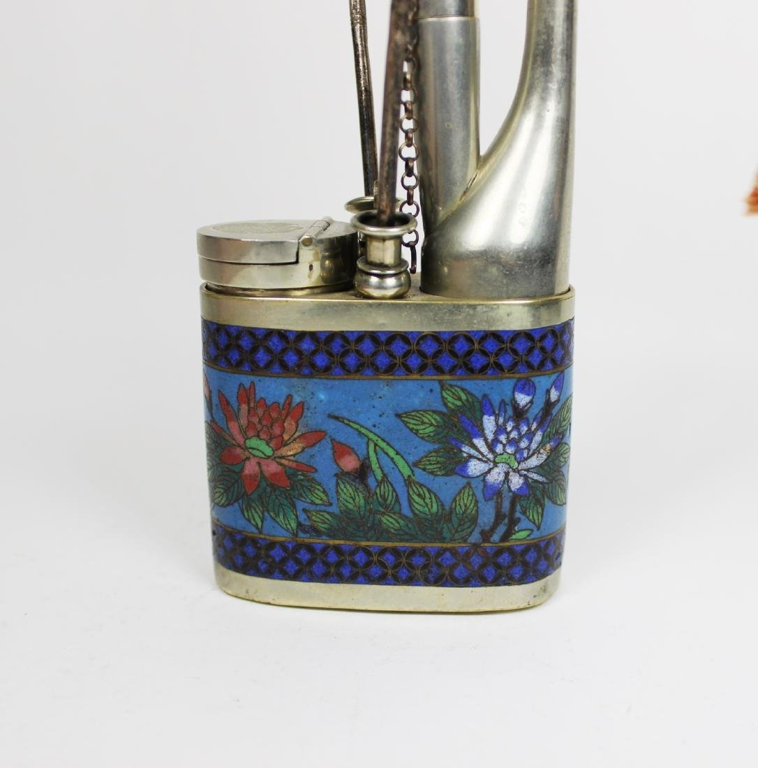 CHINESE CLOISONNE OPIUM PIPLE - 8