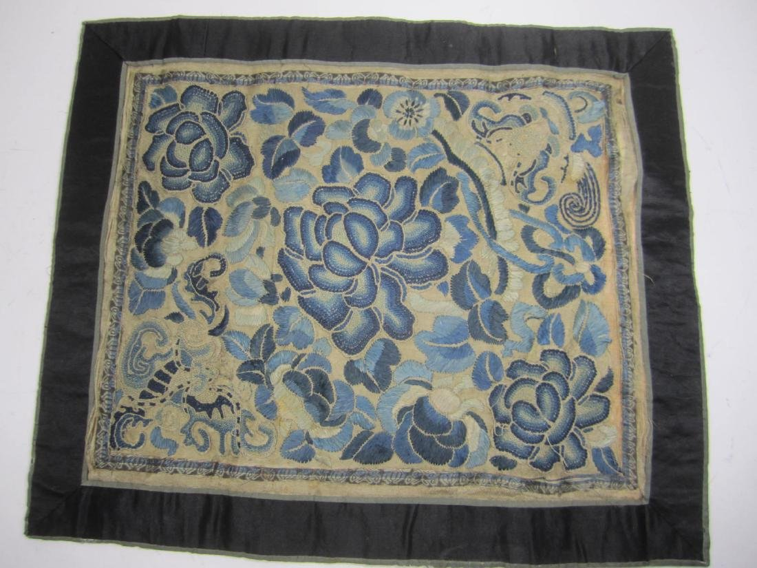 CHINESE EMBROIDERED SLIK TAPESTRY