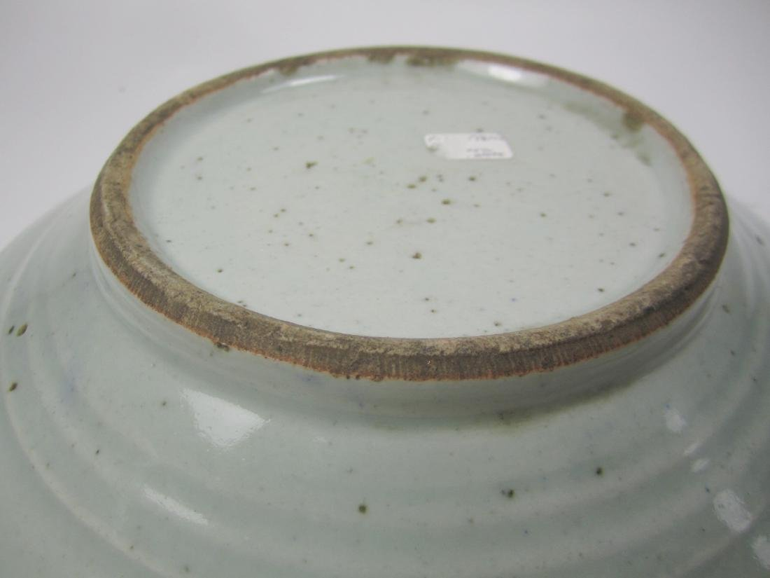 CHINESE BLUE AND WHITE PLATE - 4
