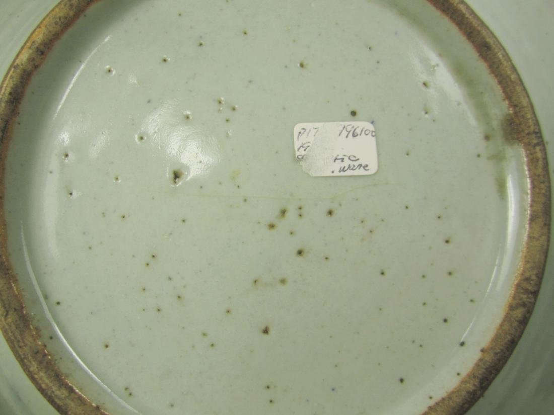 CHINESE BLUE AND WHITE PLATE - 6