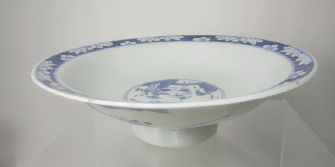 CHINESE BLUE & WHITE HIGH-FOOT BOWL