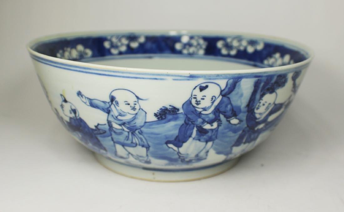 CHINESE BLUE/WHITE BOWL
