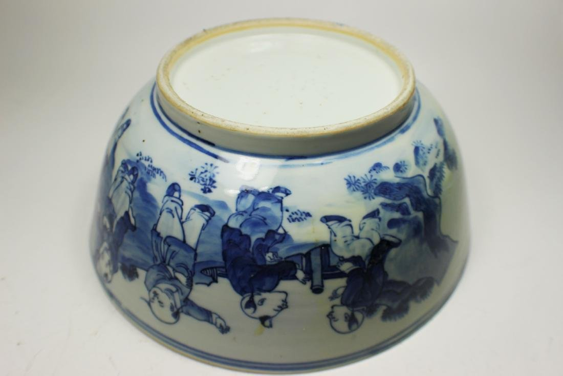 CHINESE BLUE/WHITE BOWL - 3