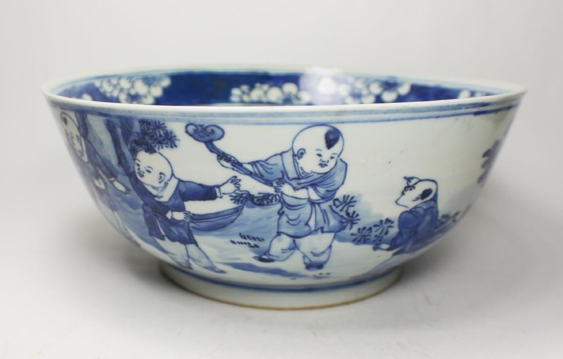 CHINESE BLUE/WHITE BOWL - 5
