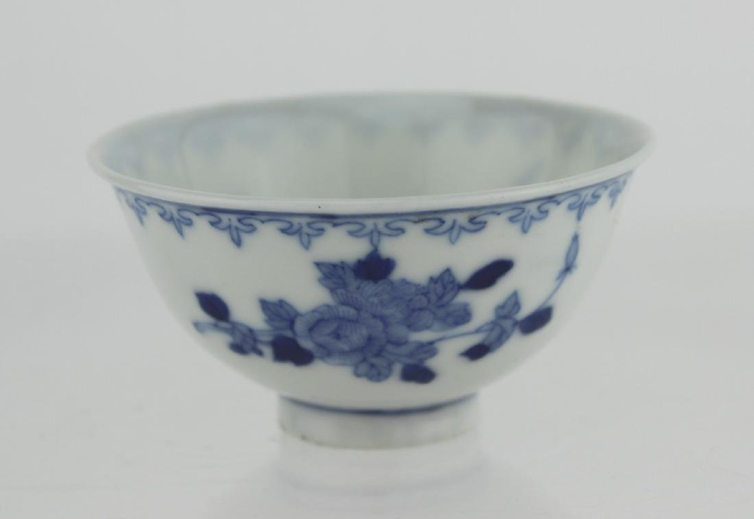 SMALL CHINESE BLUE AND WHITE BOWL