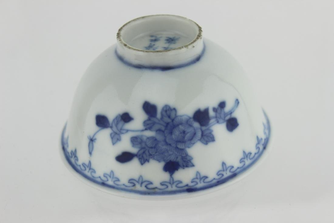 SMALL CHINESE BLUE AND WHITE BOWL - 3