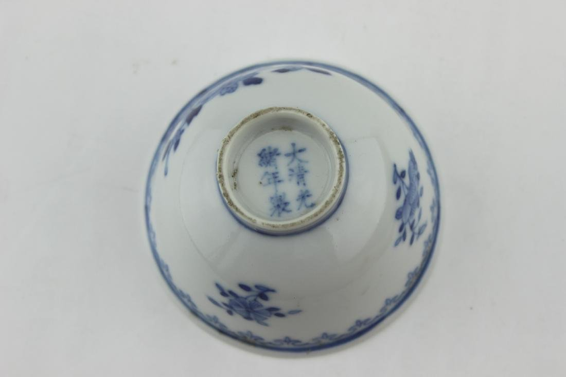 SMALL CHINESE BLUE AND WHITE BOWL - 4