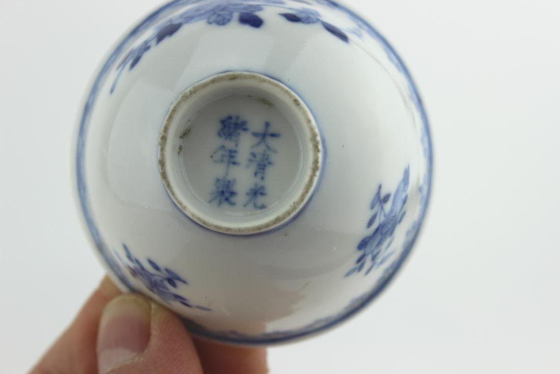 SMALL CHINESE BLUE AND WHITE BOWL - 8