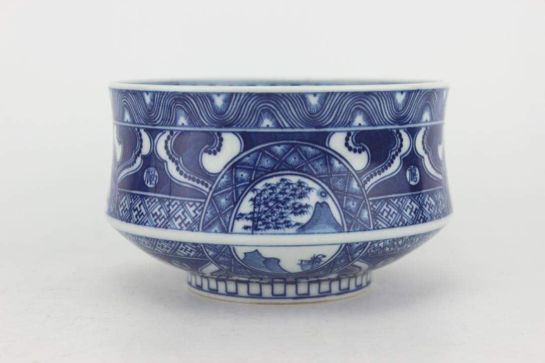 CHINESE BLUE & WHITE BOWL - 2