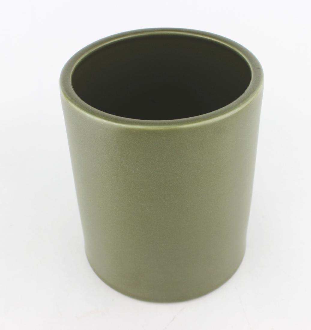 CHINESE TEA-DUST GLAZED BRUSH POT - 2