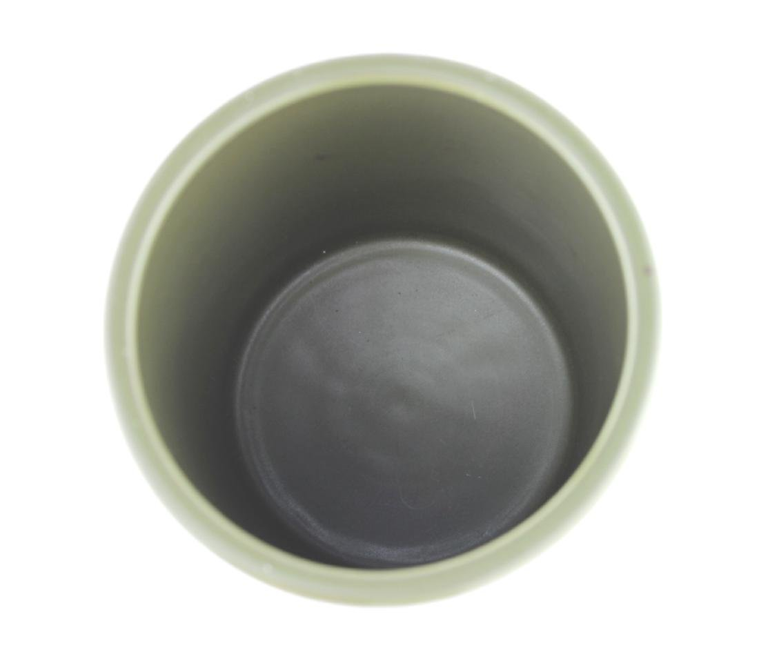 CHINESE TEA-DUST GLAZED BRUSH POT - 4