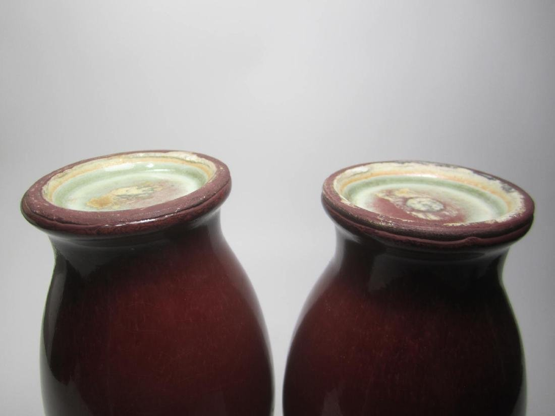 PAIR OF CHINESE SANG DE BOEUF VASES - 10