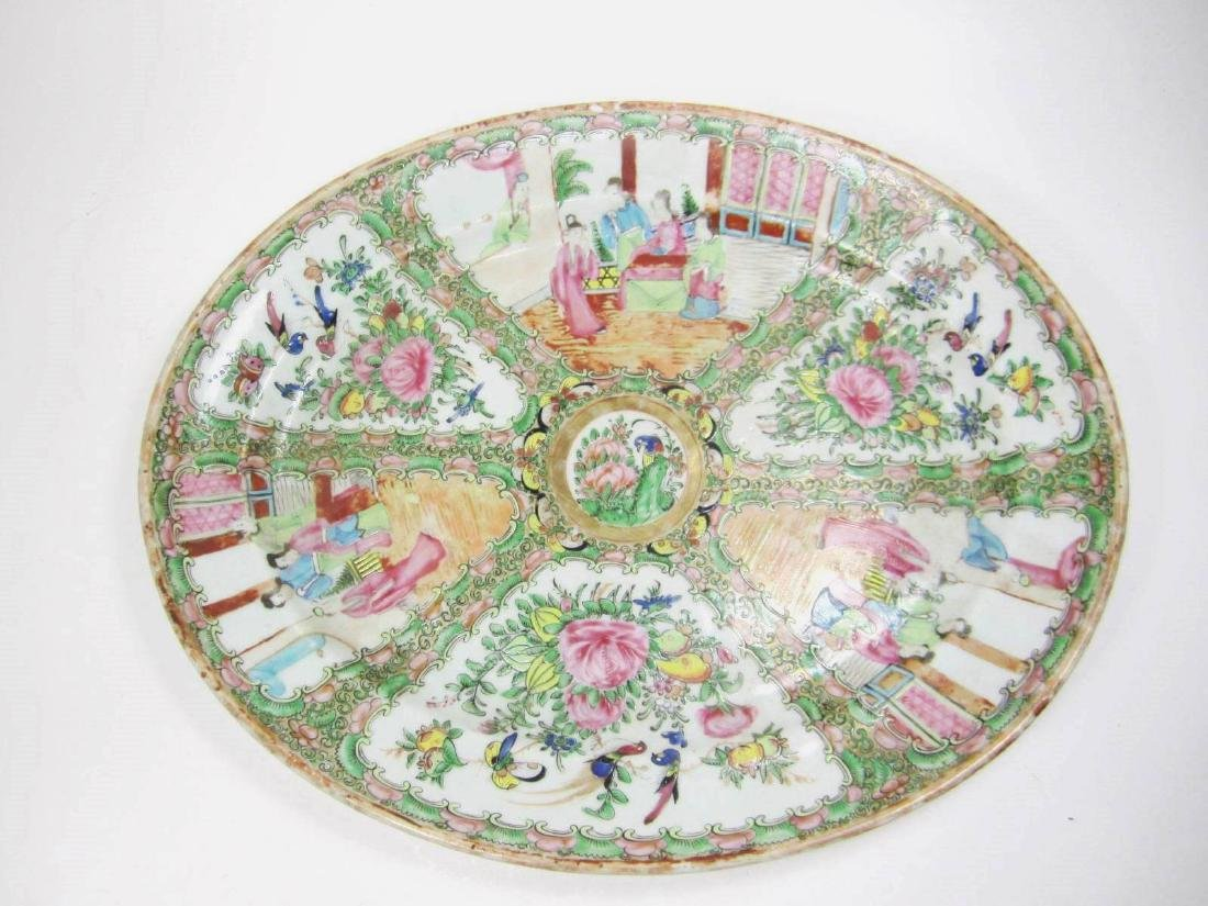 CHINESE EXPORT ROSE MEDALLION PLATE