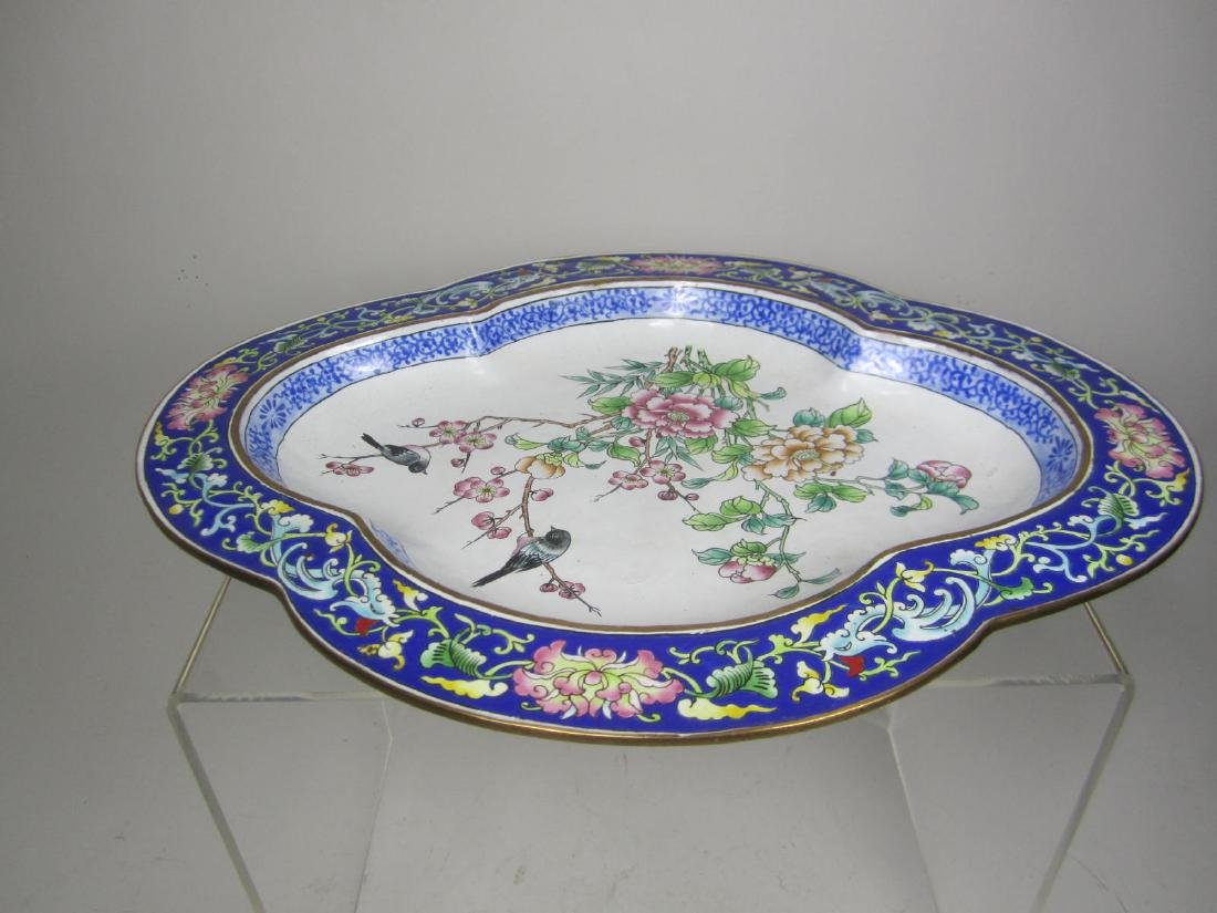 CHINESE ENAMEL PLATE