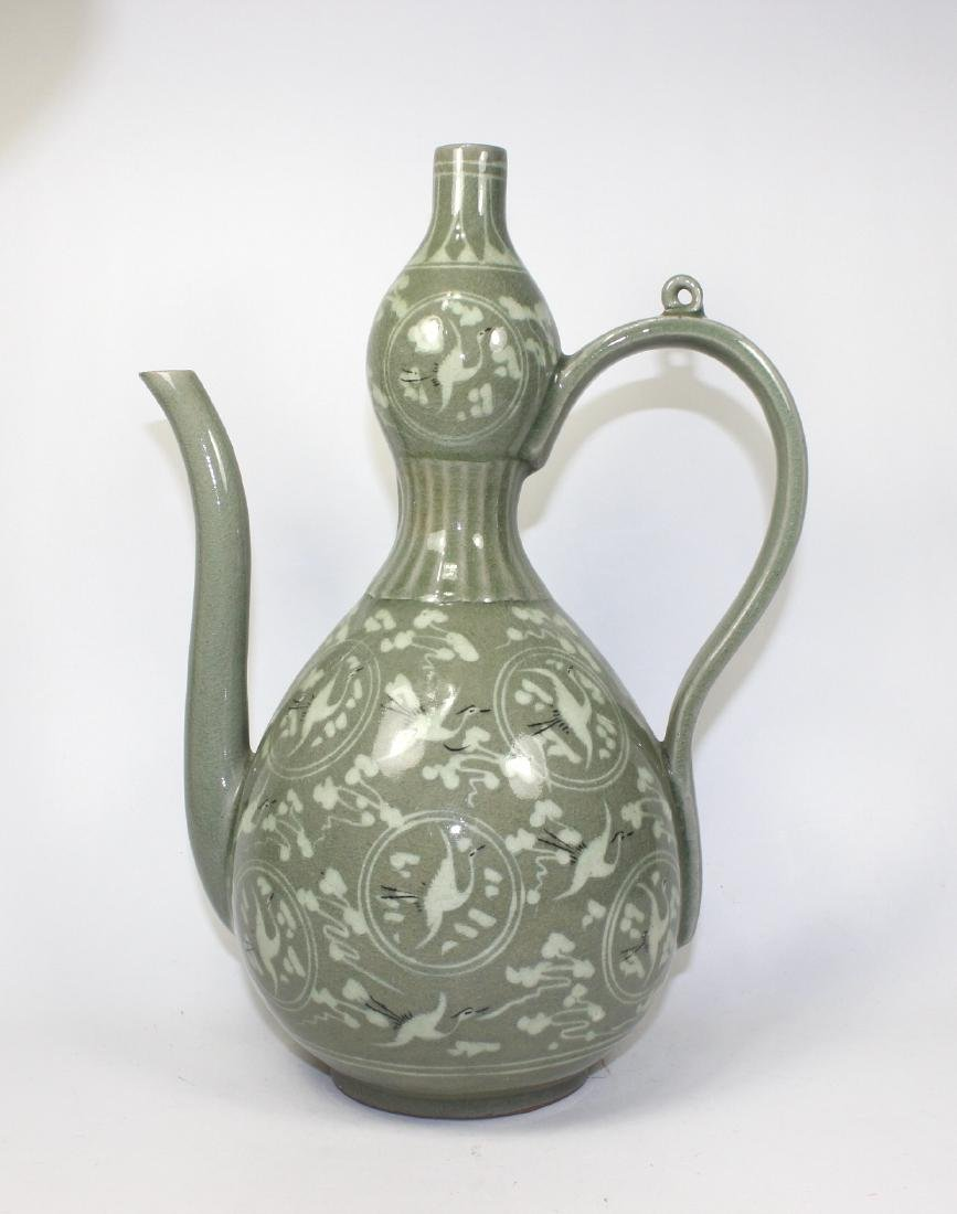 ANTIQUE KOREA CELADON TEAPOT