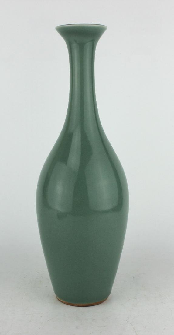 CHINESE CELADON WILLOW LEAF VASE