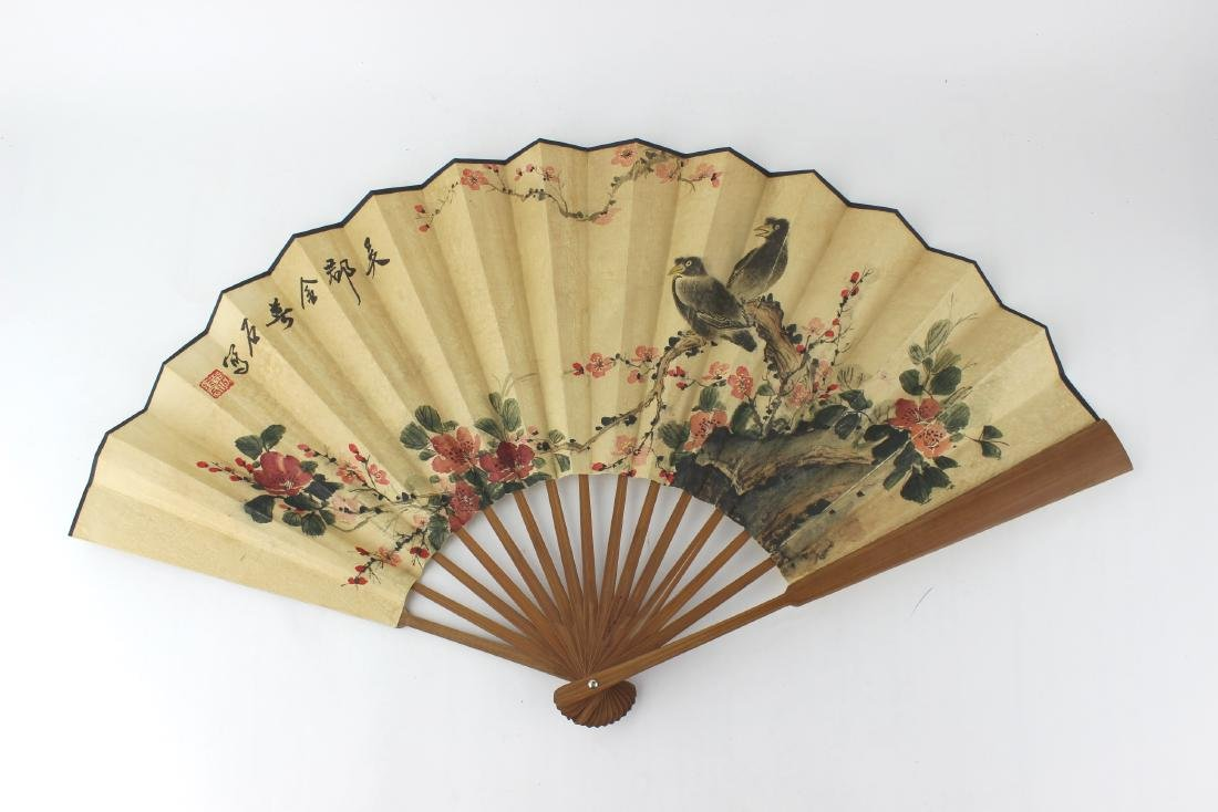 CHINESE WATER COLOR FAN