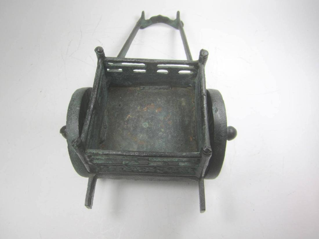 AN OLD CHINESE METAL CARRIAGE MODEL - 2