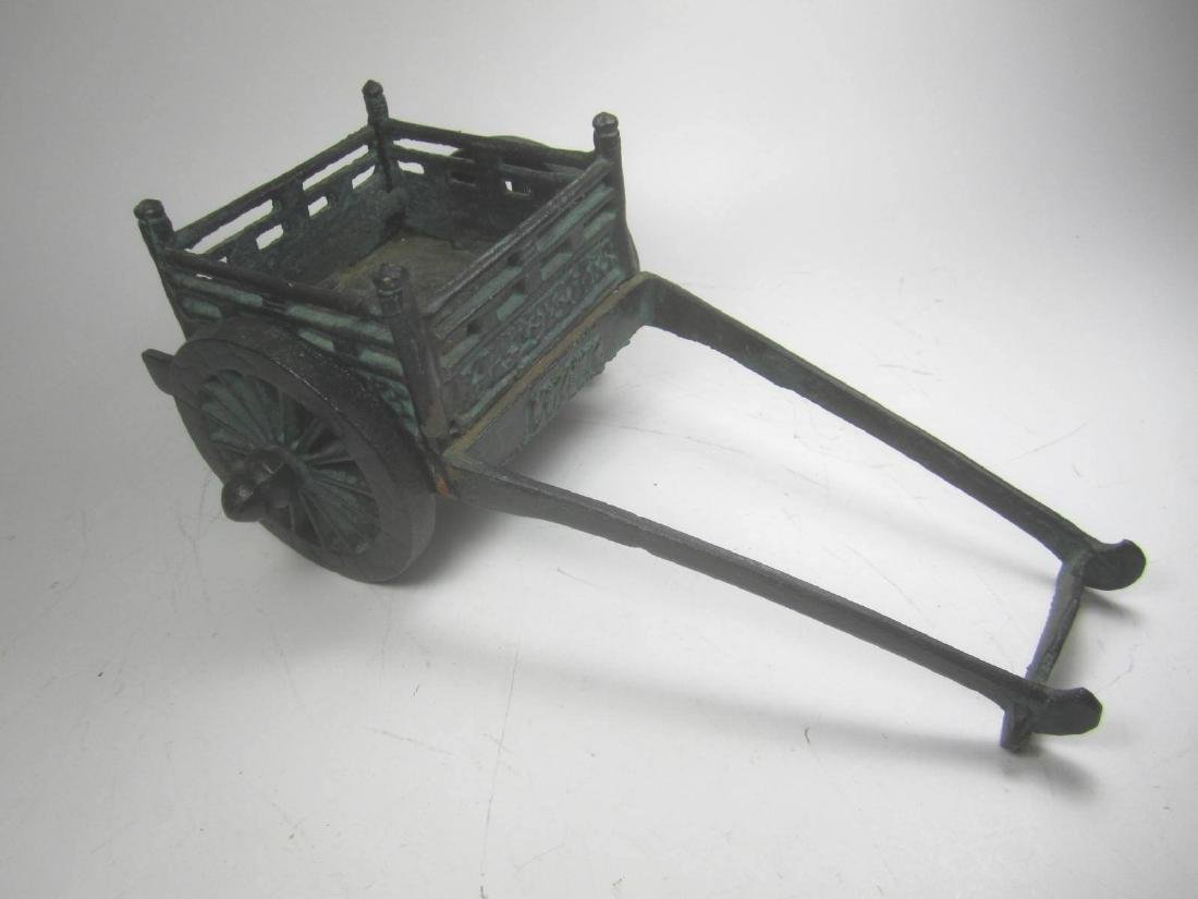 AN OLD CHINESE METAL CARRIAGE MODEL - 3