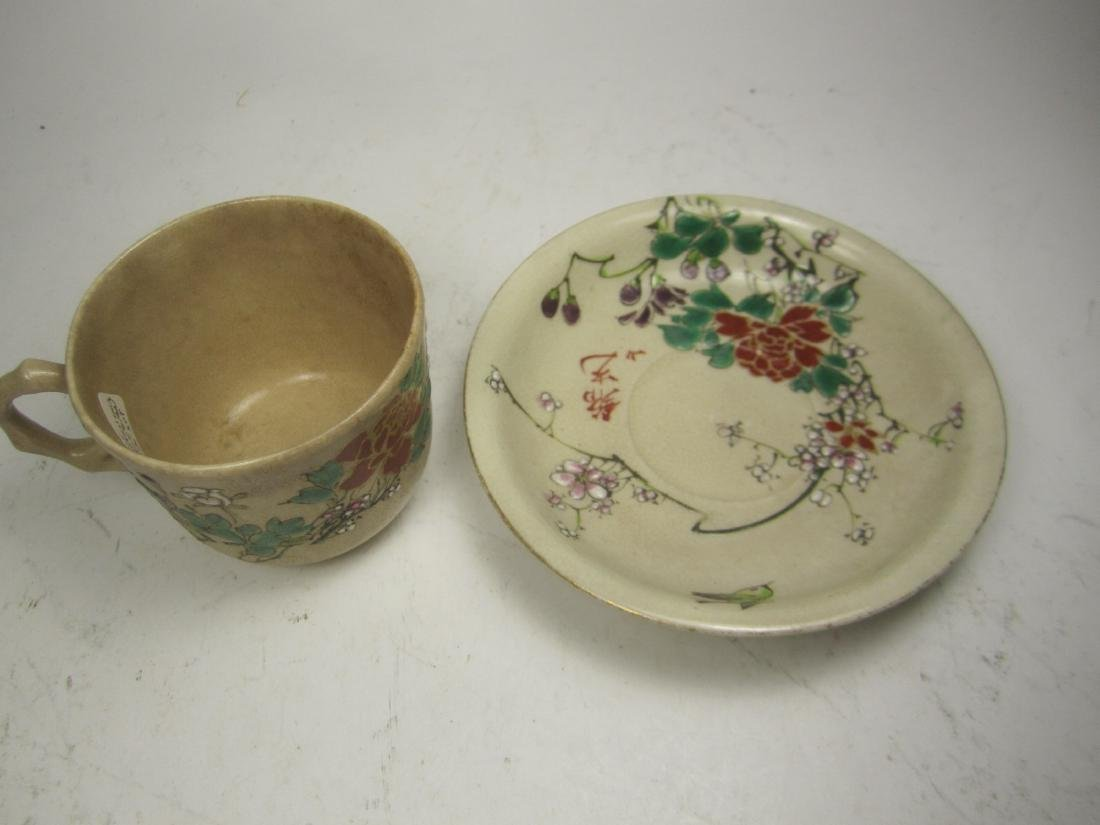 A JAPANESE SATSUMA KINKOZAN TEA SET - 3