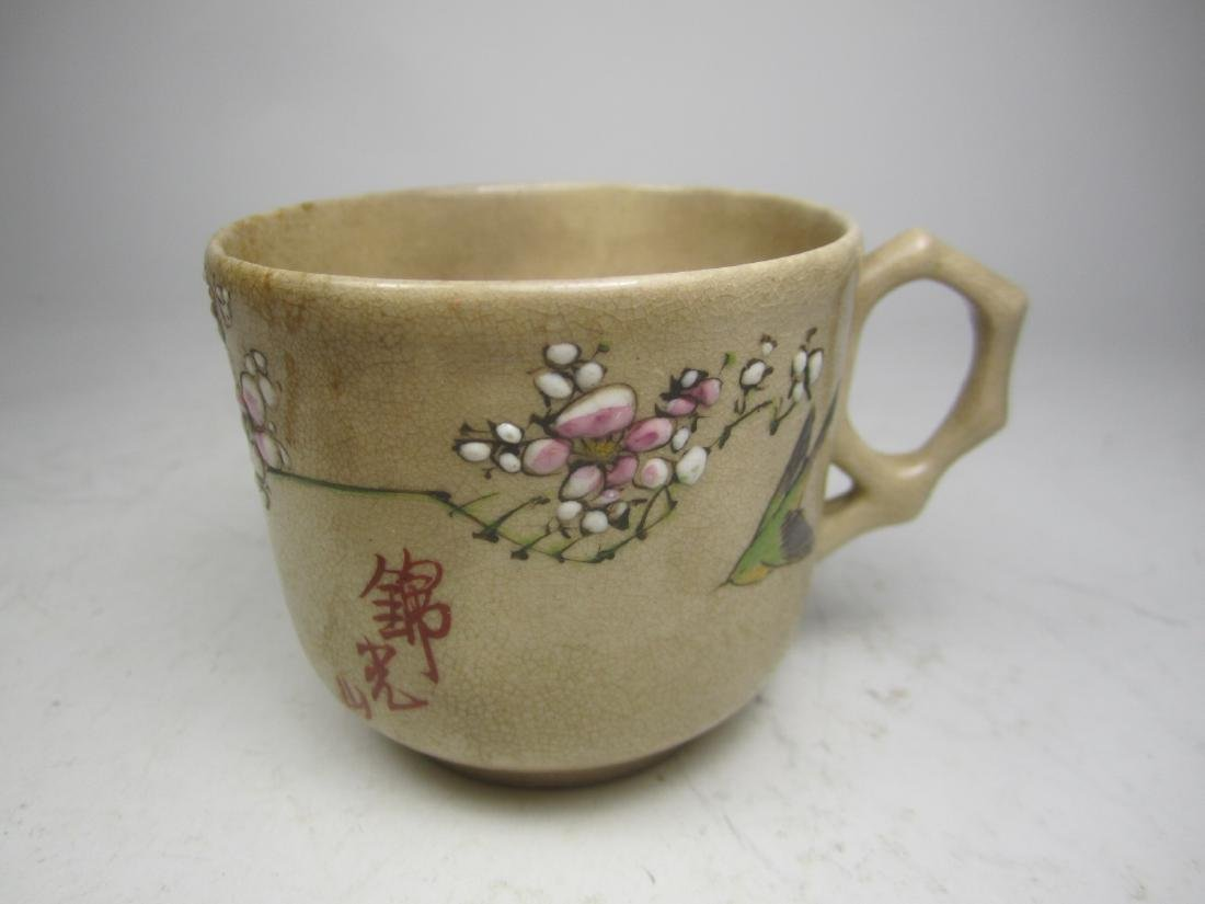 A JAPANESE SATSUMA KINKOZAN TEA SET - 6