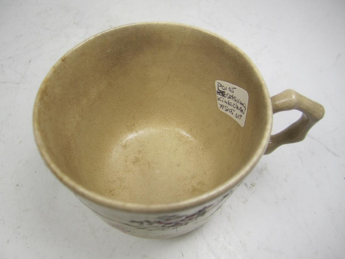 A JAPANESE SATSUMA KINKOZAN TEA SET - 7