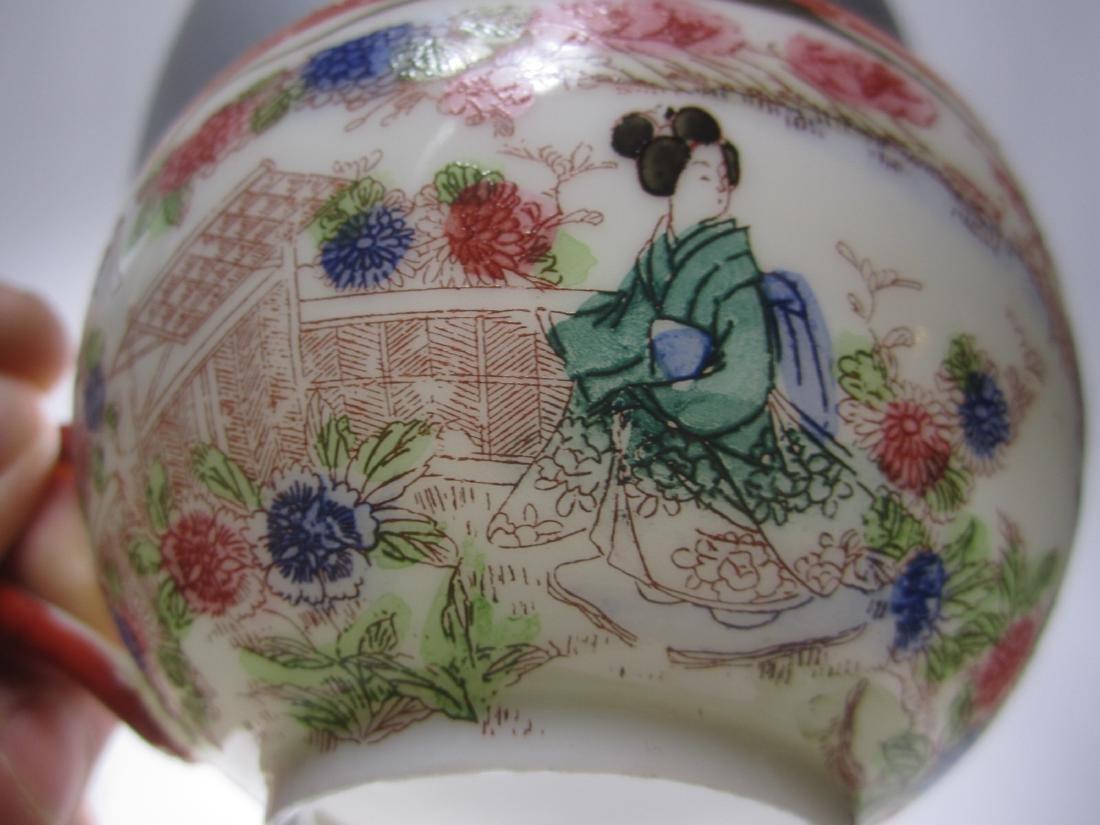 A JAPANESE EGG SHELL IMARI TEA SET - 2