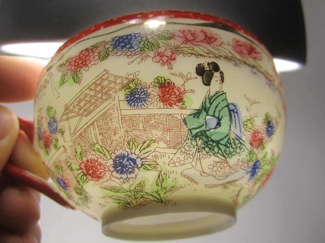 A JAPANESE EGG SHELL IMARI TEA SET - 3