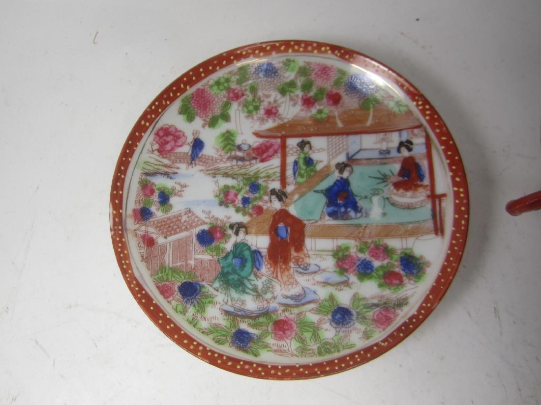 A JAPANESE EGG SHELL IMARI TEA SET - 4