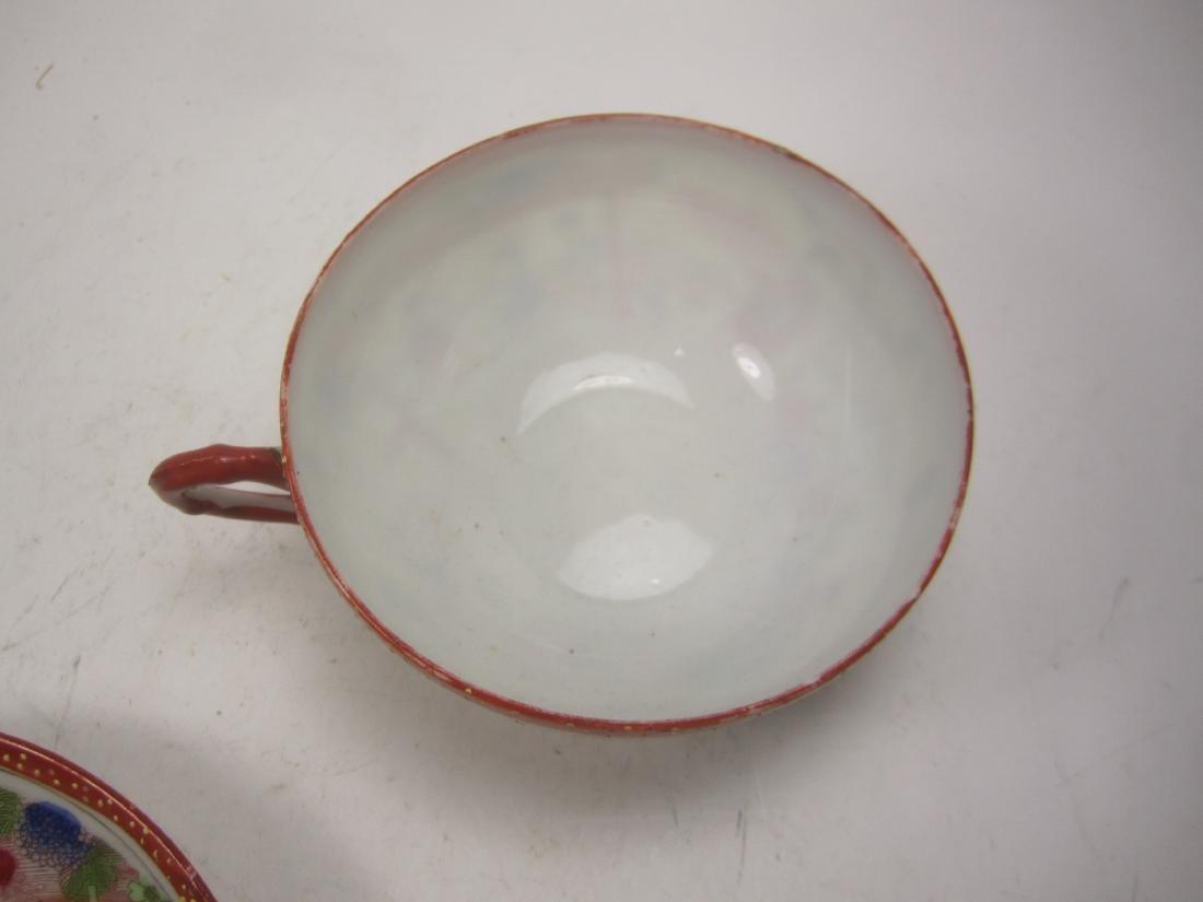 A JAPANESE EGG SHELL IMARI TEA SET - 5