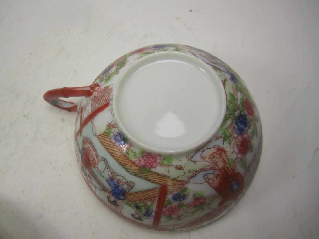 A JAPANESE EGG SHELL IMARI TEA SET - 6