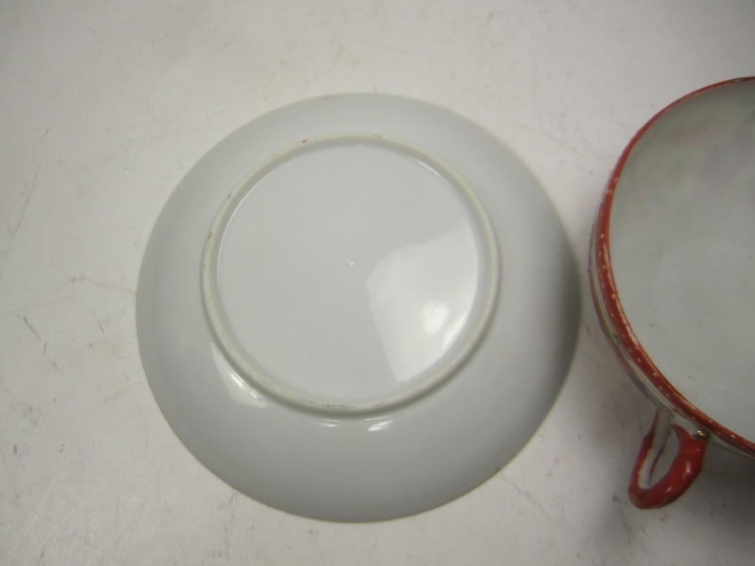 A JAPANESE EGG SHELL IMARI TEA SET - 7