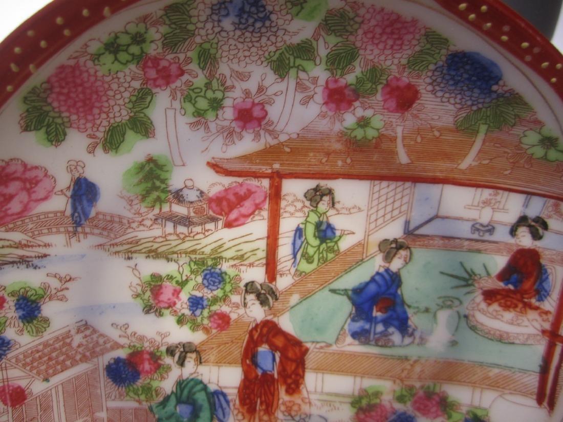 A JAPANESE EGG SHELL IMARI TEA SET - 8