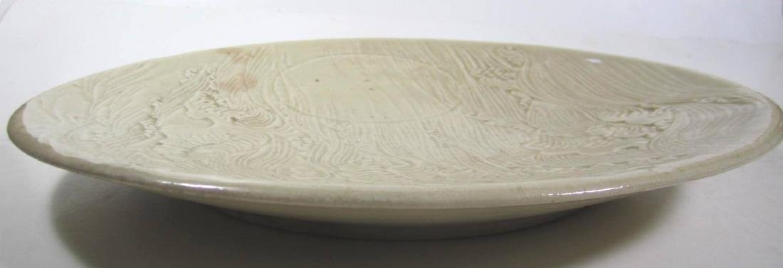 UNIQUE LARGE CHINESE GLAZED PLATE - 3