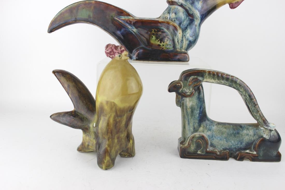 THREE ASIAN ART PORCELAIN ANIMAL STATUSES - 4
