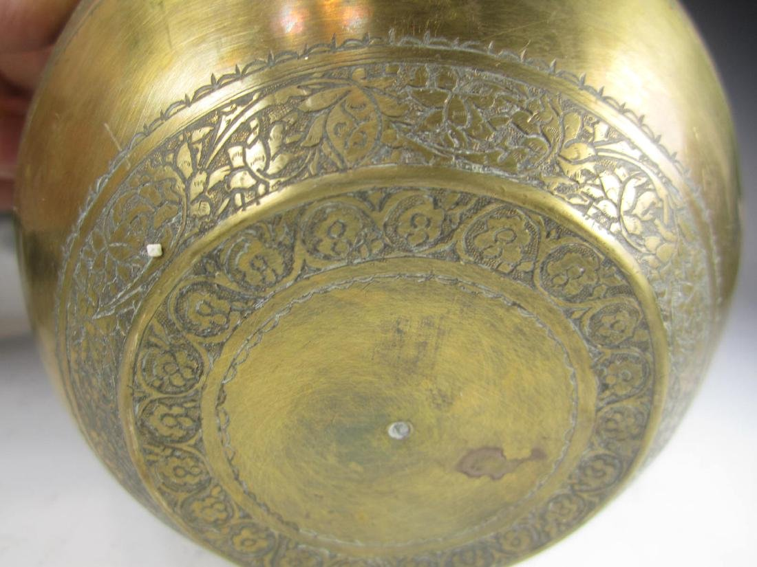 SIX BRASS BOWL WITH RETICULATED DECORATION - 8